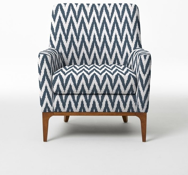 Sloan upholstered chair blue lagoon chevron contemporary armchairs
