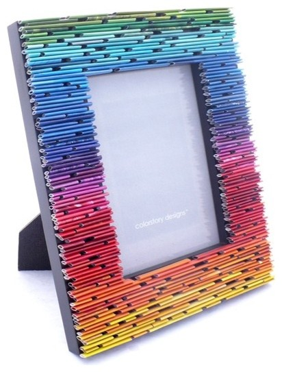 Gradient Picture Frame Made From Recycled Magazines by Colorstory Designs eclectic-picture-frames