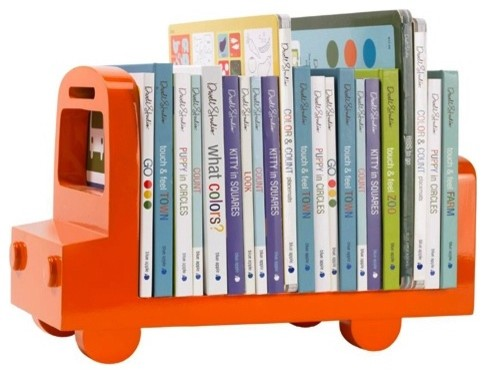 Bus Bookshelf - Orange modern kids decor