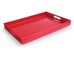 Rectangular Tray, Red contemporary-platters