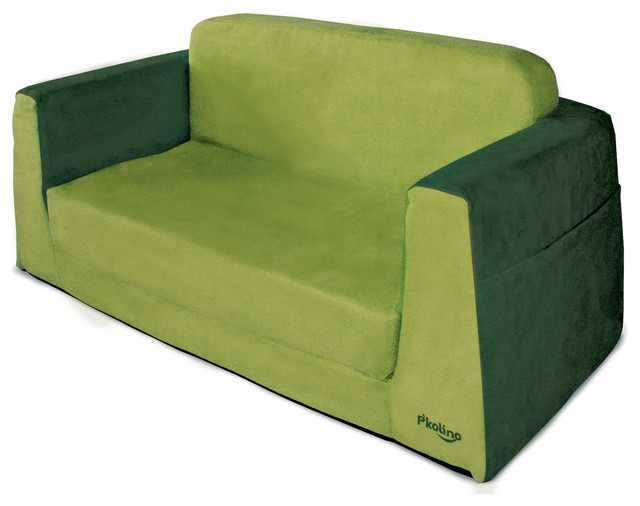 P 39 Kolino Little Couch In Green Modern Kids Sofas By All Modern Baby