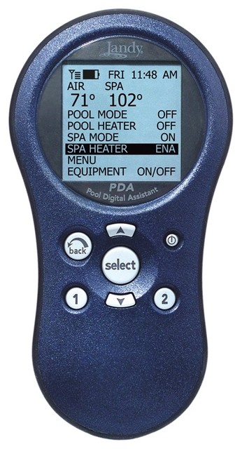 Jandy AquaLink PDA Pool/Spa Combo PS8 eclectic-swimming-pools-and-spas