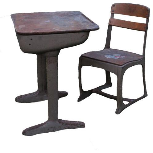 Vintage Midcentury School Desk and Chair by Turu - Modern - Desks And ...