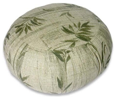 Bamboo Meditation Zafu Cushion asian-living-room-chairs