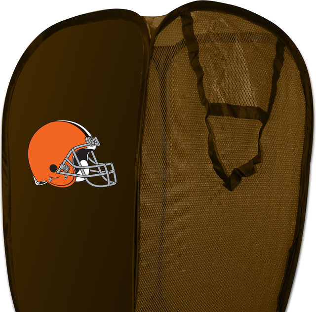 NFL Cleveland Browns Pop-Up Hamper Football Storage Basket contemporary-hampers