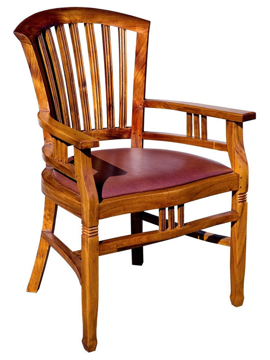 Island Collection Furniture Photos - Our Batavia Arm chair comes upholstered as shown or with solid teak slats.  It is the most comfortable wood chair you will ever sit in.