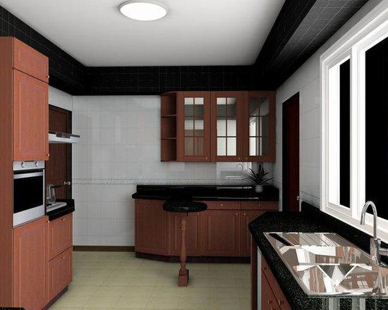 kitchen cabinet 001 - Customized kitchen cabinet