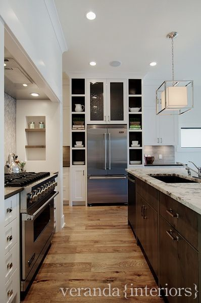 Open ktichen with hidden pantry traditional kitchen for Ak kitchen cabinets calgary