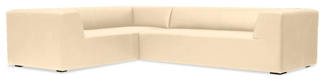Seed I Beige Leather Modular Couch Set Right contemporary-sofas