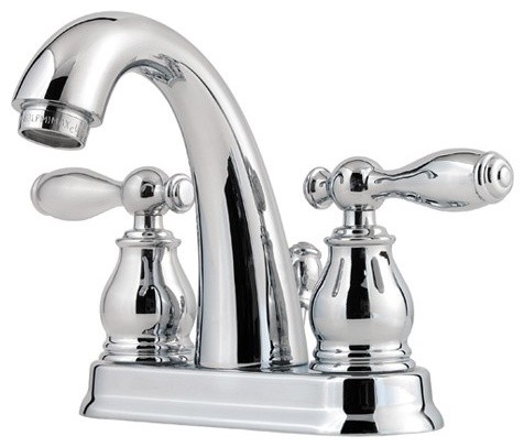 Price Pfister F-048-UNCC Unison Double Handle Centerset Lead Free Bathroom Fauce traditional-bathroom-faucets-and-showerheads