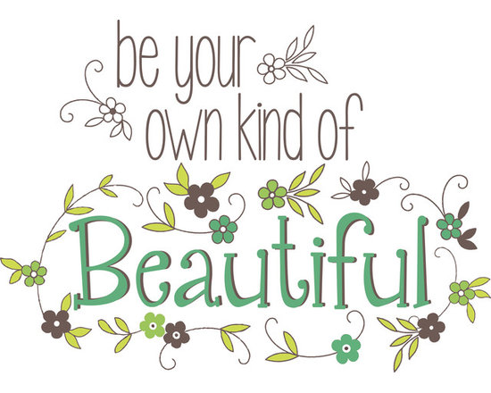 """WallPops - Be Your Own Kind Of Beautiful Wall Quote Decals - Be true to yourself because you are a one of a kind gem! With two different fonts and a colorful wreath of flowers, """"Be Your Own Kind of Beautiful"""" will inspire the walls of any room. This charming wall quote is a very pretty dorm Decor idea, or would look splendid in any room!"""