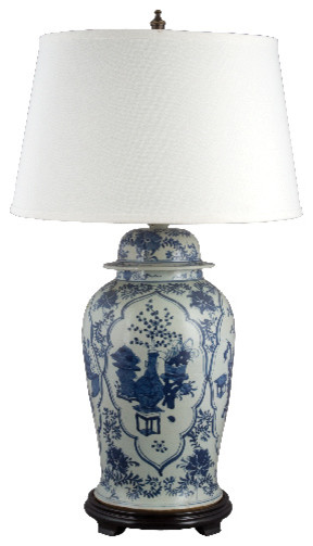Blue and white porcelain lamp asian-table-lamps