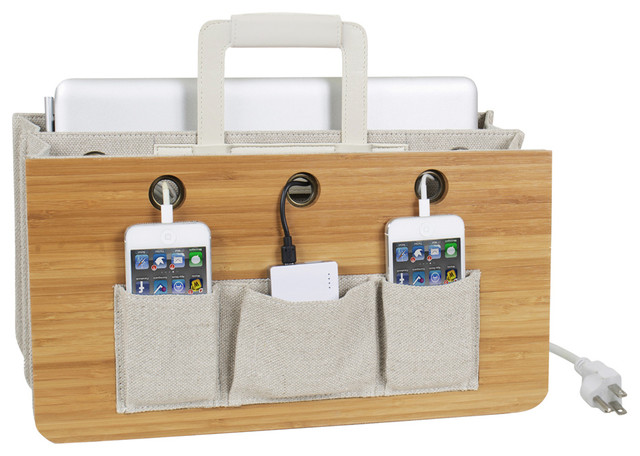 Portable Tech Station Modern Charging Stations By