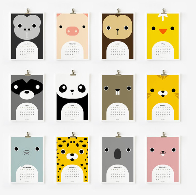 Cute Animal 2012 Calendar by Loopz modern-desk-accessories
