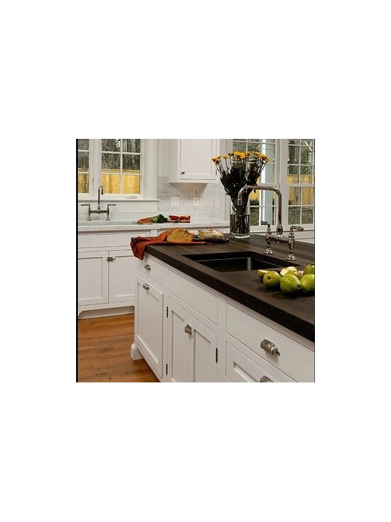 Wenge Kitchen Countertop with Sink. Designed by Jennifer Gilmer Kitchen & Bath L -