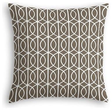 Taupe Modern Trellis Custom Euro Sham modern-pillowcases-and-shams