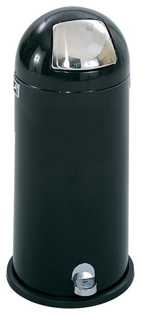 Safco Dome Top Step Round Metal 15 Gallon Trash Can ...