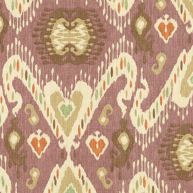 Sybil Plum Fabric By The Yard traditional-upholstery-fabric
