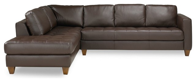 Milano Leather Sectional Sofa - sectional sofas - by Macy's