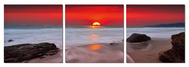 Red Sunset Print contemporary-prints-and-posters