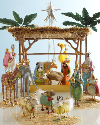 Patience Brewster Three Magi Nativity Figures traditional-holiday-decorations