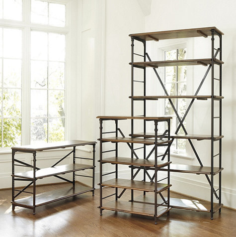 Toulouse Tall Bookcase - Industrial - Bookcases - by Ballard Designs