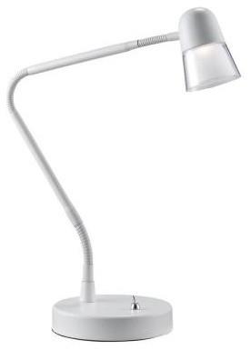 White Desk Lamps: Observer 24 in. White LED Desk Lamp 3270-02 contemporary-desk-lamps