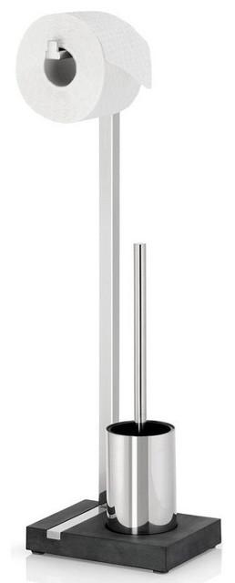 Menoto Toilet Paper and Brush Holder contemporary-toilet-accessories