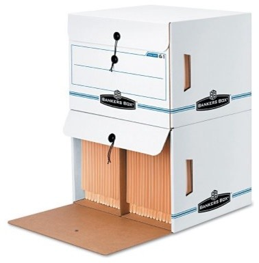 Fellowes Bankers Box Side-Tab Stackable File Storage - 12 Count - Modern - Home Office ...