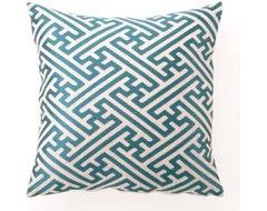 Hatch Greek Key Throw Pillow eclectic-pillows