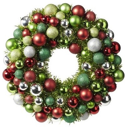 Ornament Wreath traditional-holiday-outdoor-decorations