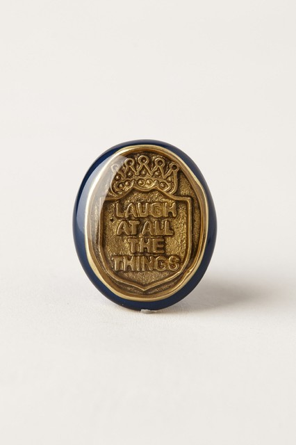 Pressed Coin Knob, Navy contemporary-cabinet-and-drawer-knobs