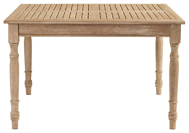 Ceylon Teak Dining Table Square 48 inch Farmhouse Outdoor Dining Tables