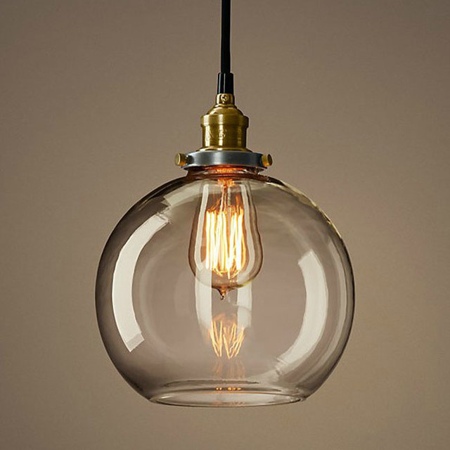 Clear Glass Globe Pendant Light 640 x 640