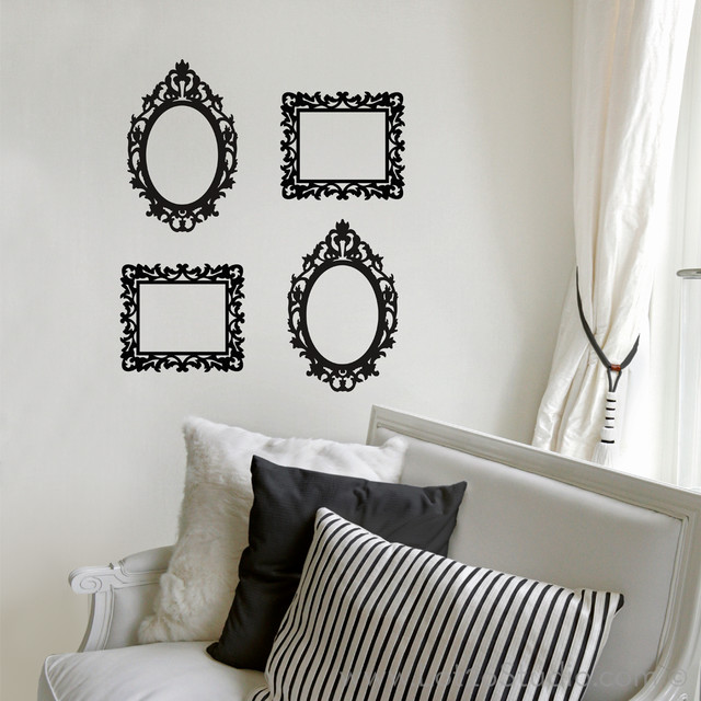 ornate frame wall decals victorian wall decals san blank walls solutions of your house how ornament my eden