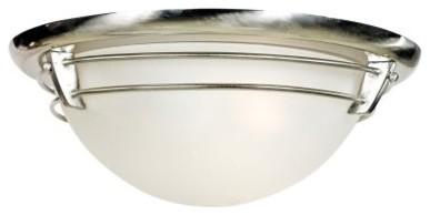 Quoizel New England NA1616BN Flush Mount - 16W in. - Brushed Nickel modern-bathroom-lighting-and-vanity-lighting