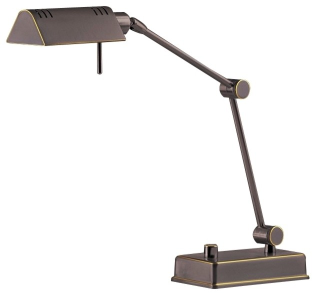 holtkoetter old bronze pharmacy desk lamp contemporary table lamps. Black Bedroom Furniture Sets. Home Design Ideas