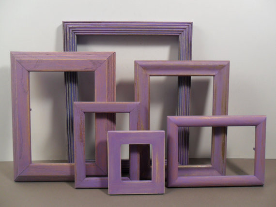 Purple Lavender Amethyst Shabby Chic Picture Frames by Elegant Seashore eclectic-picture-frames
