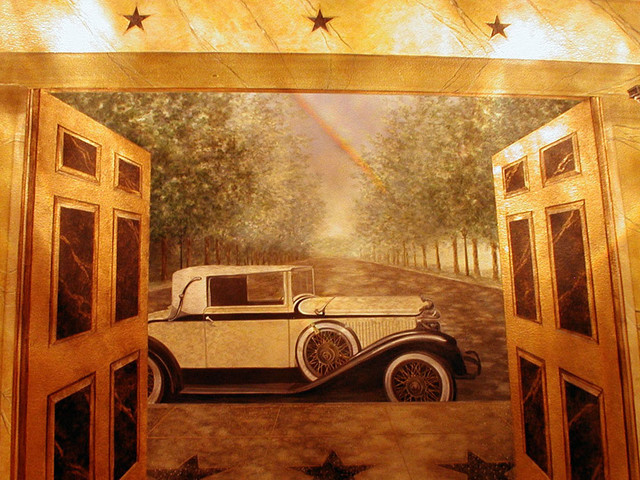 art deco movie palace home theater atlanta by visionary mural co. Black Bedroom Furniture Sets. Home Design Ideas