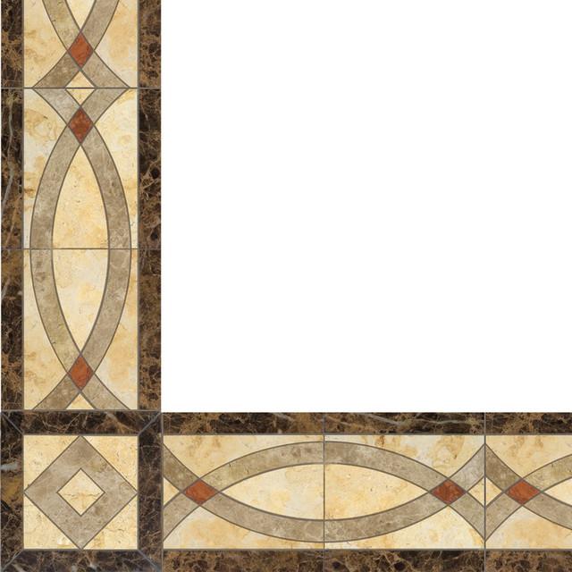 Marble Inlay Borders : Oshkosh designs celina inlay border and corner