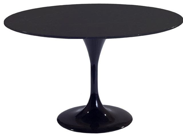 "27"" Round Molded Black Fiberglass Table contemporary-dining-tables"