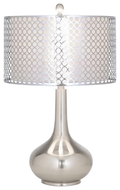 possini euro design stainless steel circles table lamp. Black Bedroom Furniture Sets. Home Design Ideas