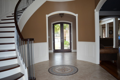 Foyer Ideas Houzz : Help with curved foyer walls