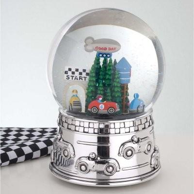 Reed and Barton Race Car Musical Water Globe modern-nursery-decor