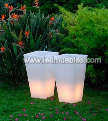 RGB Color Change LED Flower Planter contemporary-chairs