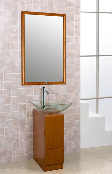 Slim Sinks Bathroom : ... Glass Slim Vanity Set modern-bathroom-vanities-and-sink-consoles