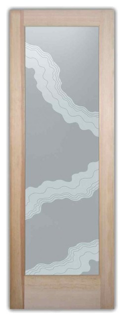 Interior Glass Doors - Frosted Palm Trees & Landscapes tropical-interior-doors