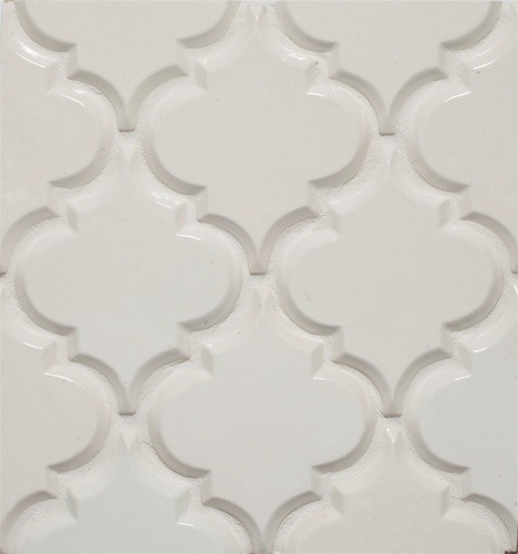 Beveled Arabesque Tile eclectic tile