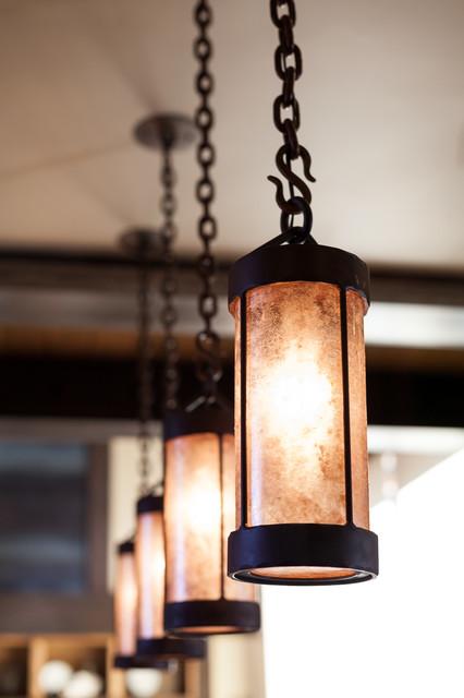 Austin cabin at martis camp rustic pendant lighting for Houzz rustic lighting