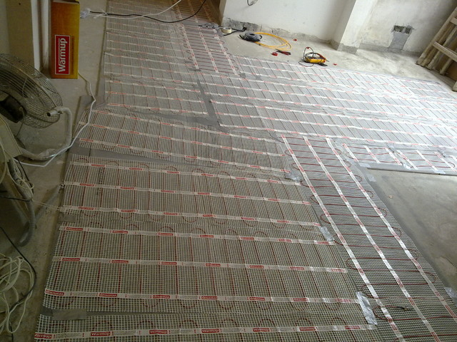 House at Discovery Bay - floor area is with 'Warmup' underfloor heating system modern-bath-products